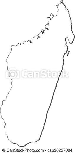 Karte - Madagaskar - csp38227004
