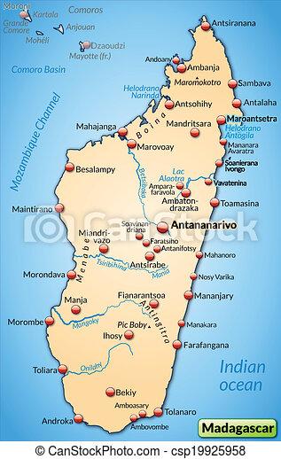 Madagaskar Karte.Landkarte Madagaskar