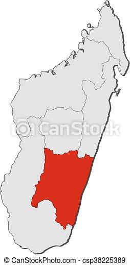 Karte - Madagaskar, Fiona - csp38225389