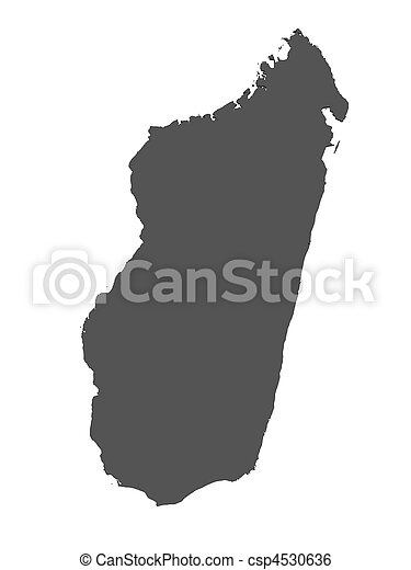 landkarte, madagaskar, -, freigestellt - csp4530636