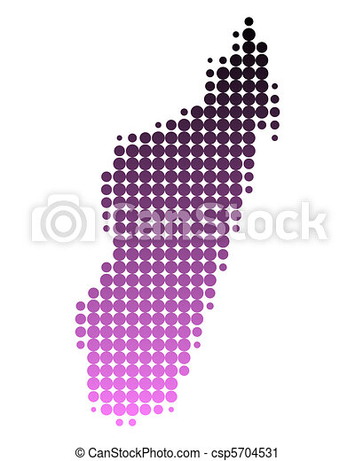 Karte von Madagaskar - csp5704531
