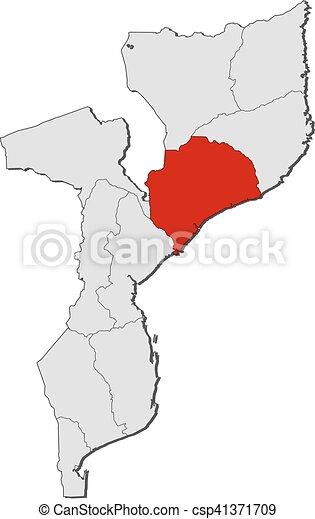 Mosambik Karte.Landkarte Mosambik Zambezia