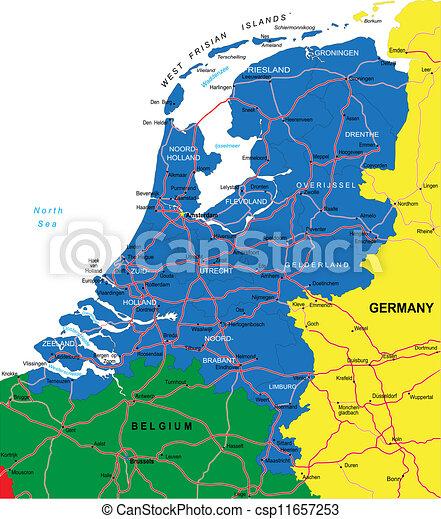 Landkarte Niederlande Lander Niederlande Goruma