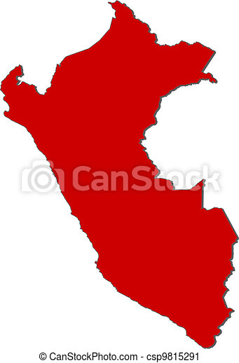 Peru Karte Umriss.Landkarte Peru