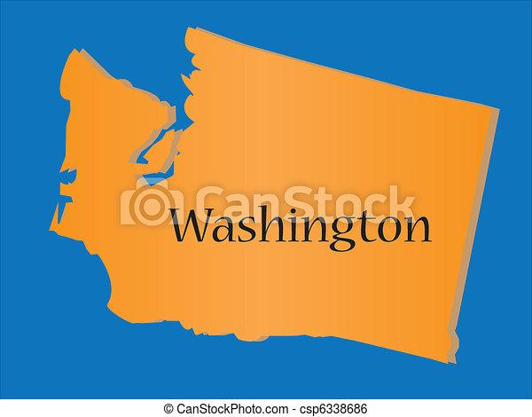 Washington state map.