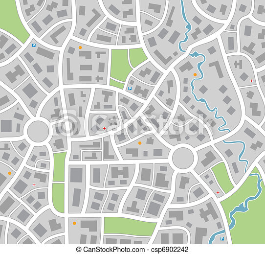 Stadtkarte - csp6902242