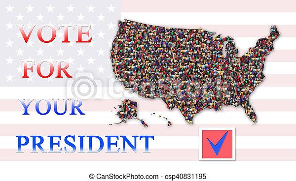 Beantrage Die Abstimmung Uber Prasidentschaftswahlen Mit Karte Der