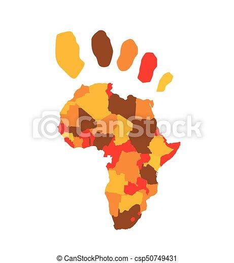 Afrika Karte Vektorgrafik - csp50749431