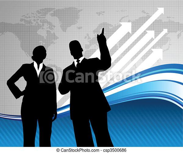 Business-Team Hintergrund mit Weltkarte - csp3500686