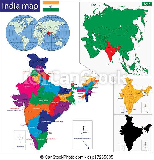 Landkarte Asien.Landkarte Westliches Asien