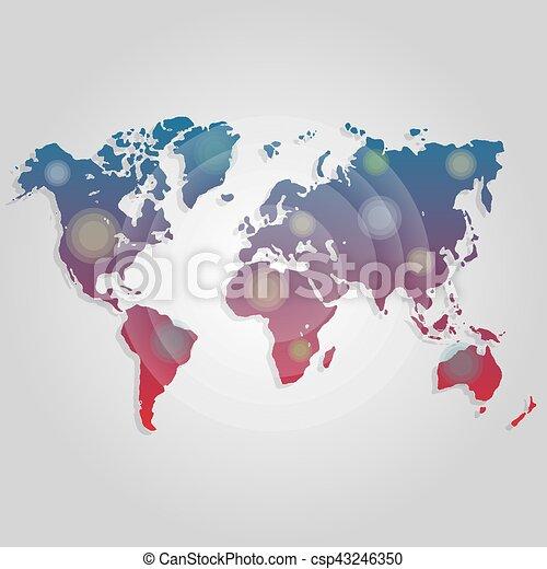Landkarte, worldmap, decke, jährlich, connection., website ... on