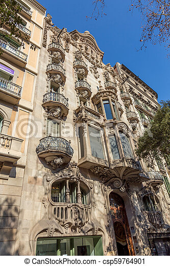 Landmark from Barcelona in a sunny day. - csp59764901