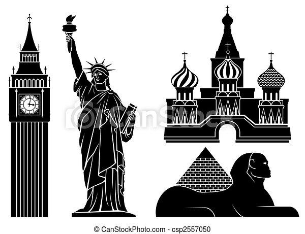 landmarks. - csp2557050