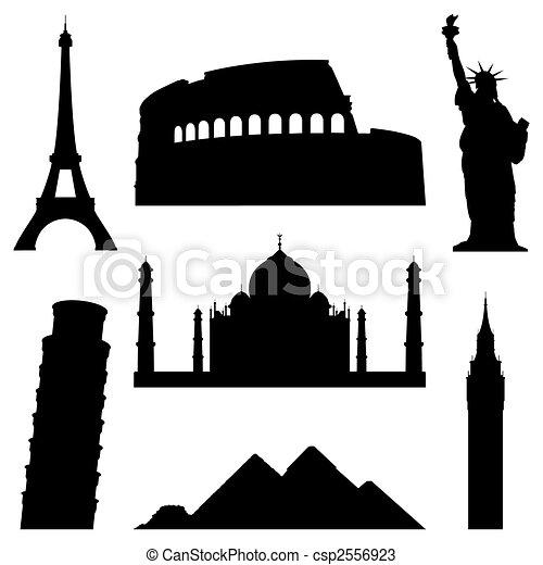Landmarks. - csp2556923