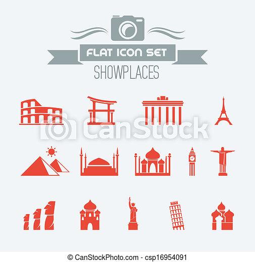 Landmarks Flat Icon Set - csp16954091