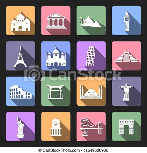Landmarks flat icons - csp49606906