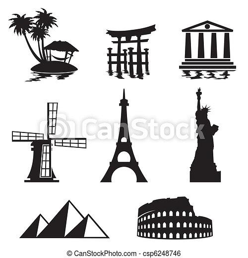 landmarks icons - csp6248746