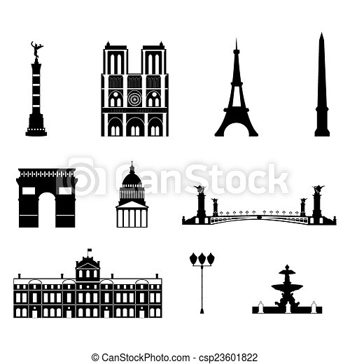 Landmarks of Paris - csp23601822