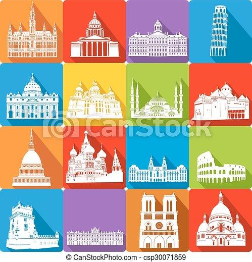 landmarks, vector illustration - csp30071859