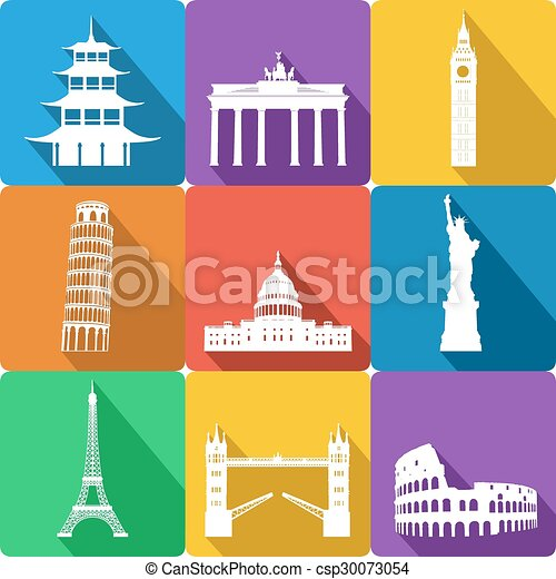 landmarks, vector illustration - csp30073054
