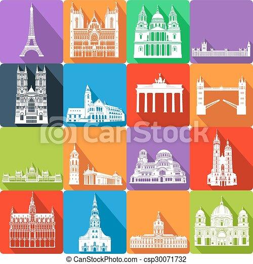 landmarks, vector illustration - csp30071732