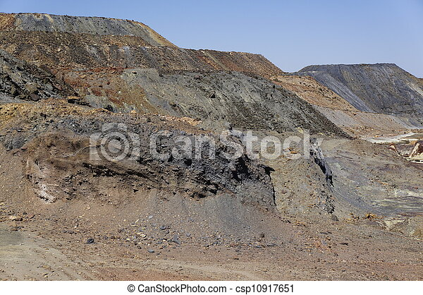 Landscape area mining, Spain - csp10917651
