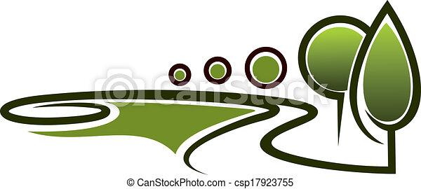 Landscape area symbol - csp17923755