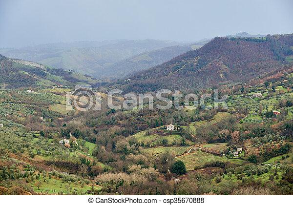 landscape around the Civita di bagnoregio - csp35670888