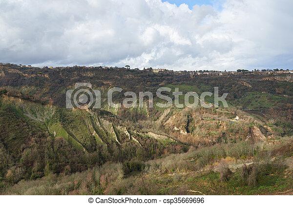 landscape around the Civita di bagnoregio - csp35669696