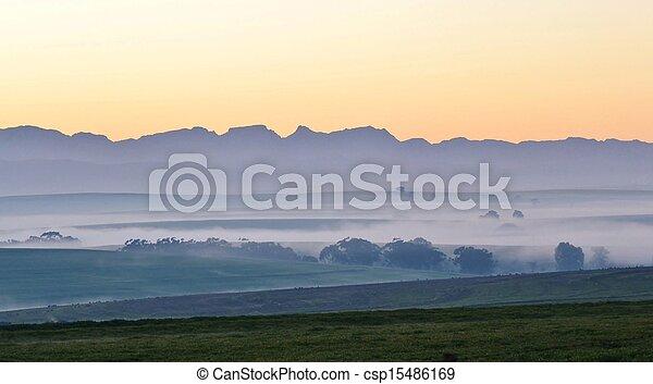 Landscape at dawn - csp15486169