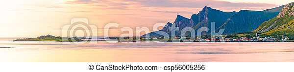 Landscape at sunset in Norway, Europe - csp56005256