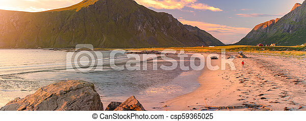 Landscape at sunset in Norway, Europe - csp59365025