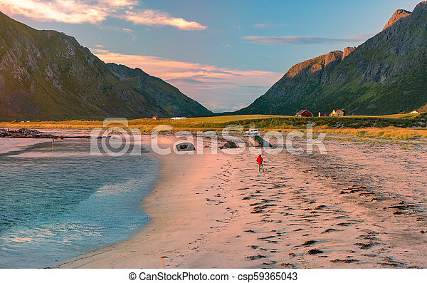 Landscape at sunset in Norway, Europe - csp59365043