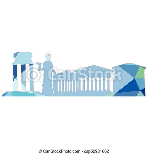 Landscape city silhouette - csp52981662