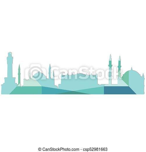 Landscape city silhouette - csp52981663