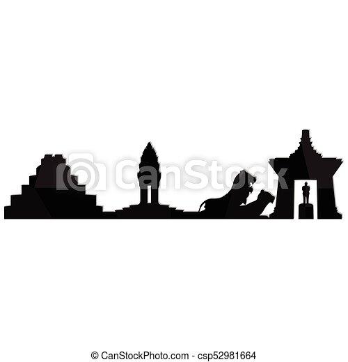 Landscape city silhouette - csp52981664