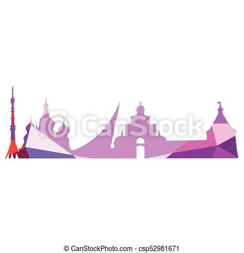 Landscape city silhouette - csp52981671