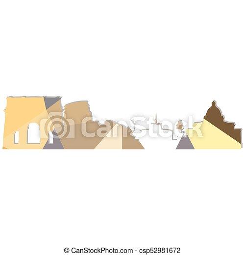 Landscape city silhouette - csp52981672