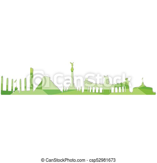 Landscape city silhouette - csp52981673