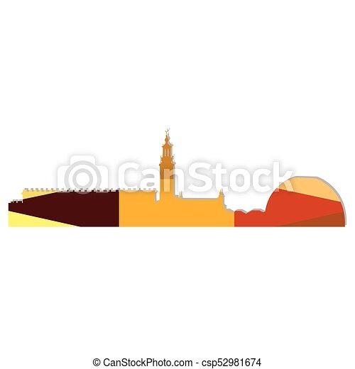 Landscape city silhouette - csp52981674