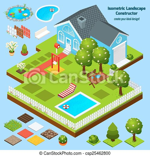 Landscape Design Isometric Constructor