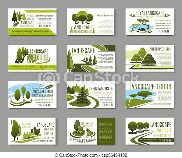 Landscape design studio business card template landscape design landscape design studio business card template csp56454182 wajeb Choice Image