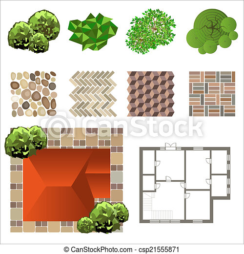 Landscape detailed landscape design elements make your for Design your own landscape plan