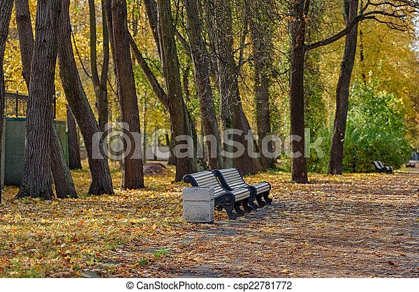landscape in autumn park - csp22781772