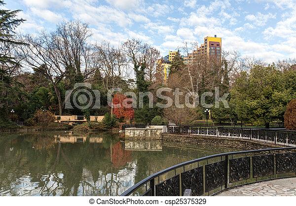 landscape in autumn park - csp25375329