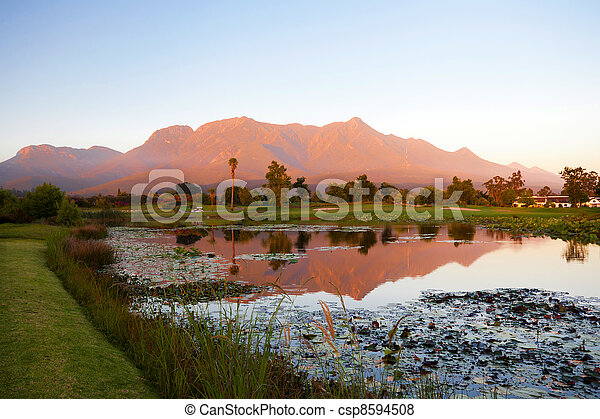 landscape in George, South Africa - csp8594508