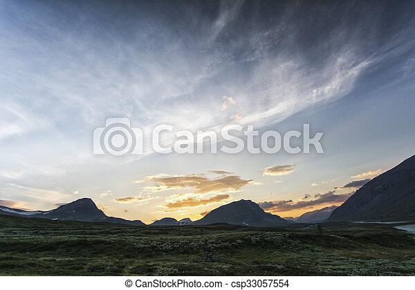 Landscape in Lapland, Sweden - csp33057554