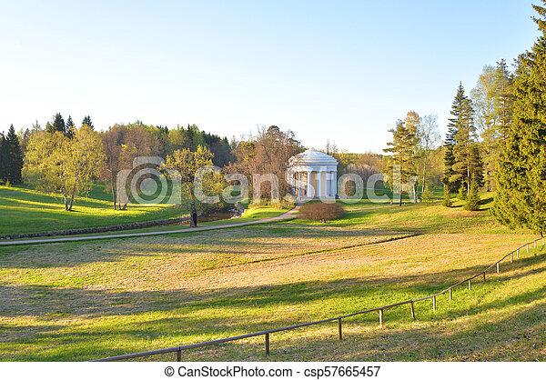 Landscape in park at spring. - csp57665457
