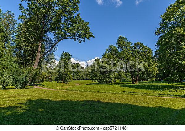 Landscape in the park, Russia - csp57211481