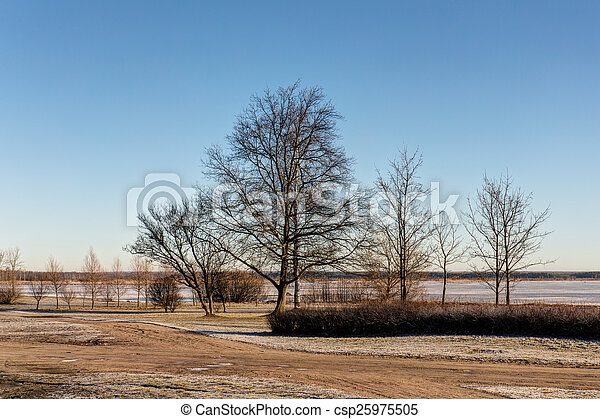 landscape in the park - csp25975505